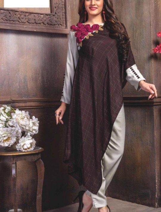 Marvellous Silk Kurti Pant Set