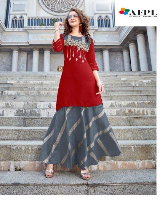 Designer Skirt Kurti Set Of Georgette Fabric