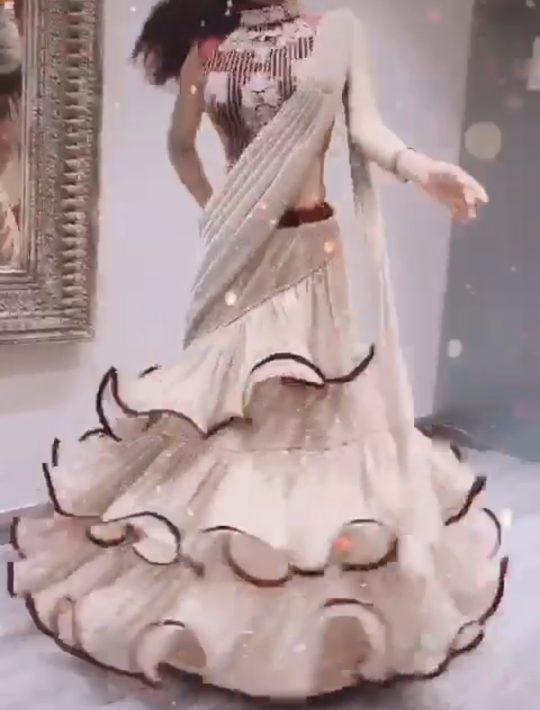 Classy Golden Imported Shimmer skirt set