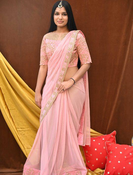 Hypnotic Pink Silk Ready To Wear Saree